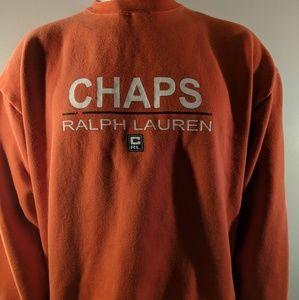 Vintage Chaps Ralph Lauren Orange Crew